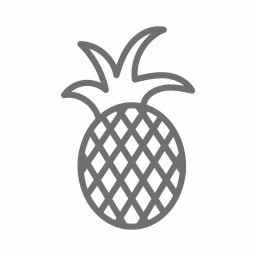 food, fruit, healthy, pineapple, tropical, vegetable icon