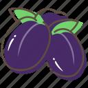 prune, fruit, healthy, food