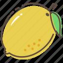 lemon, fruit, healthy, food