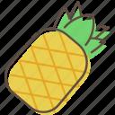 pineapple, fruit, healthy, food