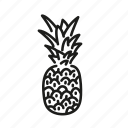farm, food, fruit, nature, organic, pineapple icon