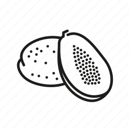 farm, food, fruit, nature, organic, papaya icon