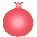 diet, food, fruit, healthy food, pomegranate, sweet, vegetarian icon