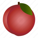 diet, food, fruit, healthy, healthy food, peach, vegetarian icon
