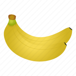 banana, diet, fruit, fruits, healthy food, tropical, vegetarian icon