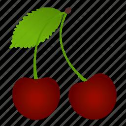cherry, diet, food, fruit, fruits, healthy food, vegetarian icon