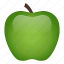 apple, diet, food, fruit, healthy, healthy food, vegetarian icon
