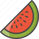 outline, food, fruit, watermelon, fruits, filled