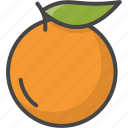 outline, food, fruit, fruits, orange, filled