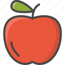 apple, food, fruit, fruits, filled, outline