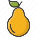 filled, food, fruit, fruits, outline, pear icon
