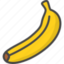outline, food, fruit, fruits, banana, filled
