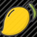 filled, food, fruit, fruits, mango, outline