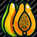 food, fruit, fruits, healthy, papaya icon