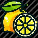 food, fruit, fruits, healthy, lemon icon