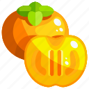 food, fruit, fruits, healthy, persimmon icon