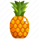 food, fruit, fruits, healthy, pineapple icon