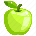 apple, food, fruit, fruits, green, healthy icon