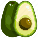 avocado, food, fruit, fruits, healthy icon