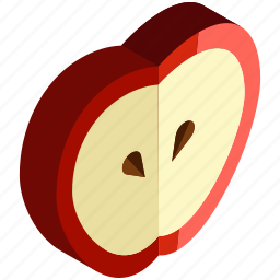 apple, food, fresh, fruits, slice, vegetables icon