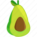 avocado, food, fresh, fruits, healthy, vegetables icon