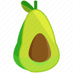 avocado, food, fresh, fruits, healthy, vegetables icon