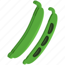 bean, beans, food, healthy, vegetable icon