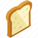 bread, breakfast, food, sandwich, slice, toaster icon