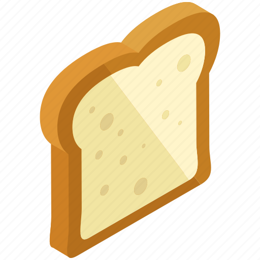 bread, breakfast, food, sandwich, slice, toaster icon