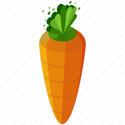 carrot, food, healthy, organic, vegetable icon