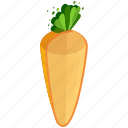 carrot, food, fresh, fruits, half, healthy, vegetables icon