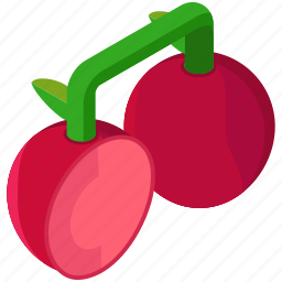 cherries, cherry, food, fruit, half, healthy icon