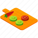 board, chopping, food, fruits, healthy, vegetables icon