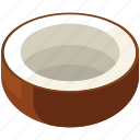 coconut, food, fresh, fruits, healthy, vegetables icon