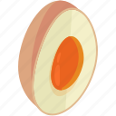 easter, egg, food, fresh, half, healthy icon