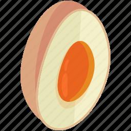 easter, egg, food, fresh, half, healthy icon