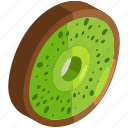 food, fresh, fruit, healthy, kiwi, slice, vegetables icon