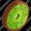 food, fresh, fruit, healthy, kiwi, slice, vegetables icon