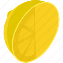 citrus, food, fruit, healthy, lemon, line, slice icon