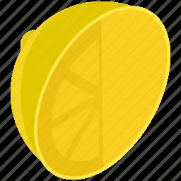 citrus, food, fruit, healthy, lemon, line, slice icon
