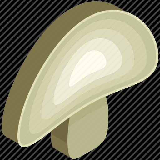 food, fungus, mushroom, slice, toadstool icon