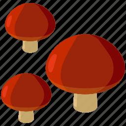 food, fungus, mushroom, mushrooms, toadstool icon