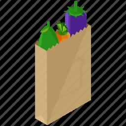 bag, food, organic, shopping, vegetables icon