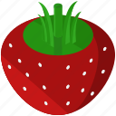 food, fresh, fruits, healthy, strawberry icon