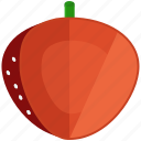 food, fresh, fruit, half, healthy, strawberry icon