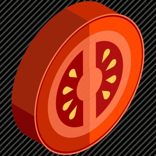 fruits, salad, slice, tomato, vegetables, vitamins icon