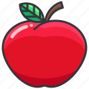 apple, food, fruit, health, organic icon