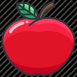 apple, food, fruit, health, organic icon