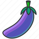 aubergine, food, health, organic, vegetable icon