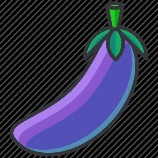 aubergine, food, health, organic, vegetable icon